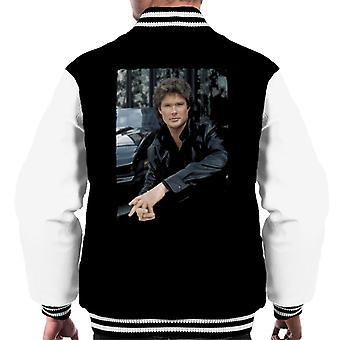 Knight Rider Michael Knight Headshot Men's Varsity Jacket