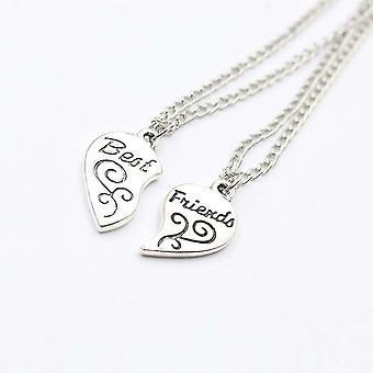 2pc Mother Daughter Necklace,  Heart Love Mom Necklaces & Pendants