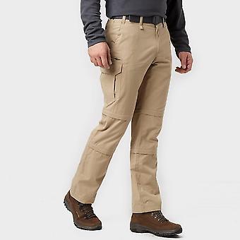 Duplo novo Brasher homens zip off calças bege