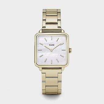 Cluse Ladies La Tetragone Gold Square Quartz Fashion Watch CL60026S