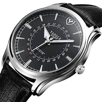 YAZOLE 436 Mężczyźni Luminous Display Kreatywne numery Dial Skórzany pasek Zegarek kwarcowy
