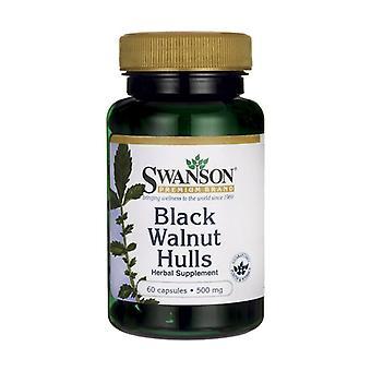 Black Walnut Hulls, 500mg 60 capsules