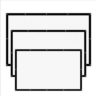 16:9 Proyector Screen-3d Hd Home Theater Wall Mat