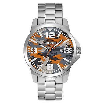 Harley Davidson 76B190 Men's Bar & Shield Logo Camo Print Wristwatch