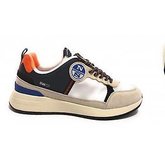 鞋北帆运动鞋模组。Flex 015 白色蓝色橙色 Us20ns05