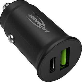 Ansmann InCar-laddare CC230PD 1000-0029 USB-laddare Bil, HGV Max utgångsström 3000 mA 2 x USB 2.0-port A, USB-C-uttag