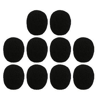 10-delars Mic Wind Shield Sponge Cover EY-M01 Svart för högtalare Lapel Mic