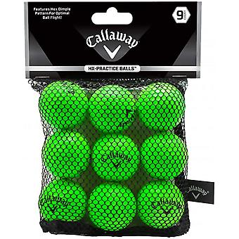 Balles de Golf de pratique comte de Callaway HX 9 - vert