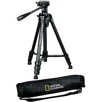 DZK PhotoTripod Kit Large, with Carrying Bag, 3-way Head, Quick release, 4-Section Legs Lever Locks,