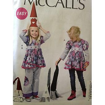 McCalls ompelu kuvio 6639 Tytöt Lapset Toppi & Housut Koko 2-5 leikkaamaton