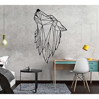 Nordic style geometric wolf wall decor mural stickers