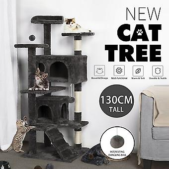 130 Cm Hauteur Cat Tree Grinding Claw Multi-layer Perches Luxury Cat Condo