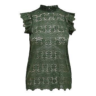 Women Lace Top JDYBLOND Shirt Short Sleeve Summer Shirt Blouse Pattern Design