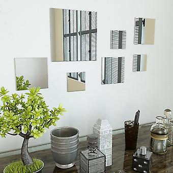 vidaXL 7-osainen seinäpeilisarja Square Glass