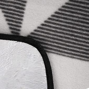 Picknickkleed 180 x 220 cm grijs-wit driehoek