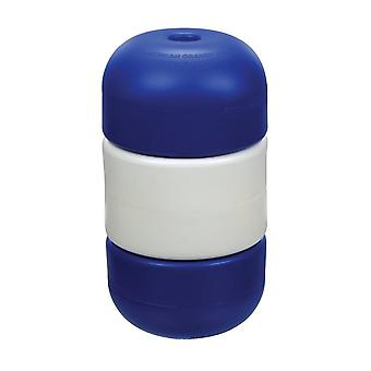 """American Granby IF5950 5"""" x 9"""" Handi-Lock Float Blue/White/Blue for 0.5"""" Rope"""