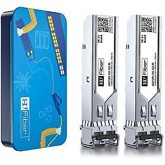 FengChun 1G SFP Multimode Modul - 1000Base-SX SFP Mini GBIC Transceiver(550m, 850nm), Dual LC
