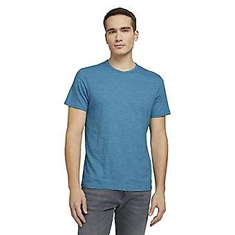Tom Tailor 1026226 Gestreept T-Shirt, 22384-Teal bay Groen Wit, M Man