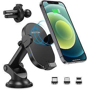 FengChun Caricatore Wireless Auto Supporto Telefono a Ricarica Wireless 15W, Caricabatterie a