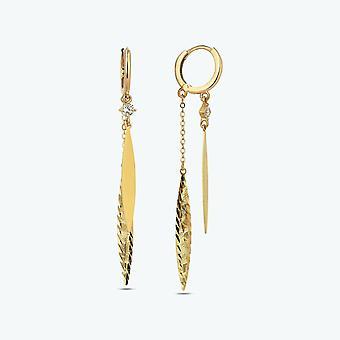 Boucle d'oreille en or pendentif