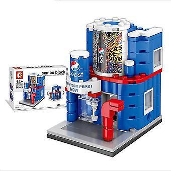 Ville rue pepsi magasin blocs de construction modèle de jouets pour les enfants mini cadeau, copoz az6838