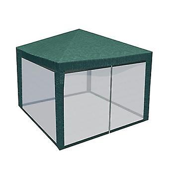 Gaas voor partytent 4 wanden - 290 x 190 cm – Groen