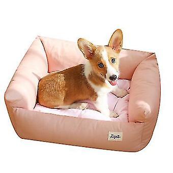 L rosa kjæledyr myk liten hund bedrectangle bomull hundeseng for små hunder x5238
