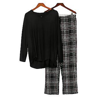Carole Hochman Women's Set Reg Marshmallow Jersey Pajama Black A368287