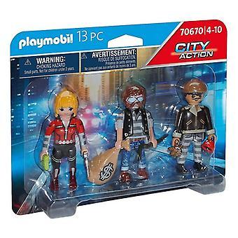 Set of Figures City Action Thieves Playmobil 70670 (13 pcs)