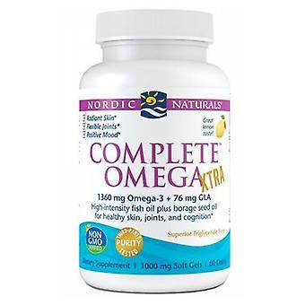 Nordic Naturals Complete Omega Xtra, 1000 mg, Citron Taste 60 Softgels