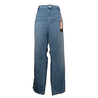 Laurie Felt Women's Petite Jeans Silky Denim Boot Cut Pull-On Blue A295342