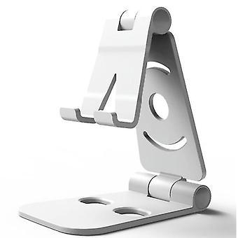 universal Phone Holder ,Foldable Desk plastic phone  Holder(White)