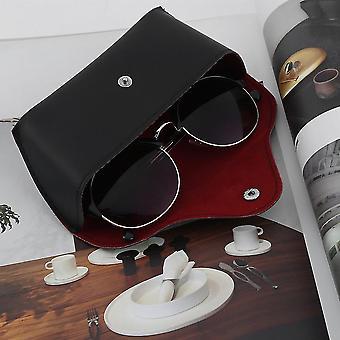 Ανθεκτική pu δερμάτινα γυαλιά γυαλιά ηλίου περίπτωση γυαλιά ηλίου αποθήκευσης κάτοχος κουτί τσάντα