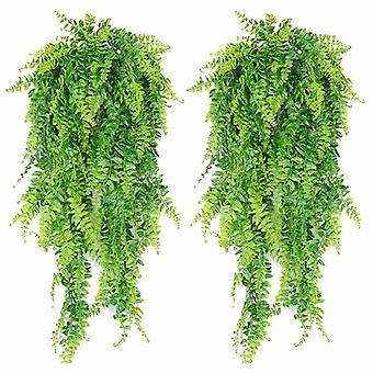 Keinotekoiset roikkuvat viiniköynnökset Saniaiset Kasvit Fake Ivy Jättää seinäkoristeen