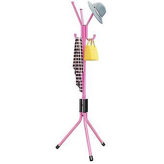Kids Clothes Tree Children Coat Rack Hat Hanger stand(Pink)