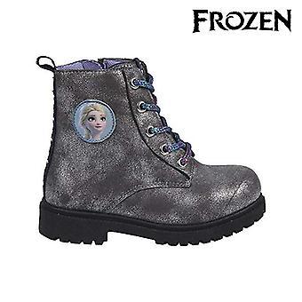 Botas casuais infantis prata congelada