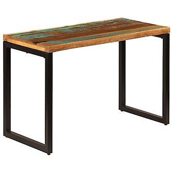"""שולחן אוכל vidaXL 115x55x76 ס""""מ עץ ופלדה שיובשו"""