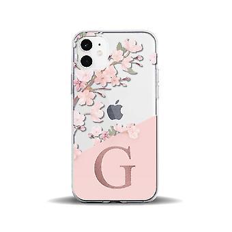 Sopii iphone11pro luova läpinäkyvä persikankukka 26 englanti kirjaimet 78p matkapuhelinkotelo iphone12 suojakansi awo66246