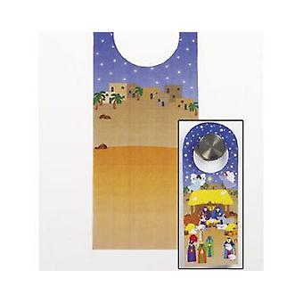 12 Christian Nativity Doorhanger Sticker Christmas Craft Kits