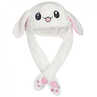 Králičí klobouk Ear Moving Jumping Hat Funny Bunny Plyšová čepice