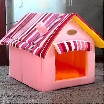 JYMC904589749 Extraíble lavable Dog House Warm Soft Home Shape Bed With Cushion for Dog Cat,