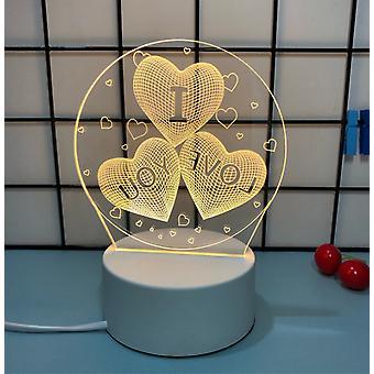 3D LED biljardipöytävalot Monivärinen Illusion Visual Night Light Desk -lamppu