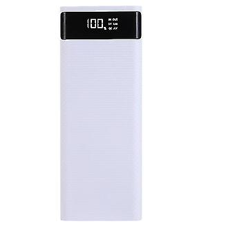 Dual Usb 20000mAh Power Bank Battery Box Shell Diy Charging For Iphone Samsung Mobile(White)