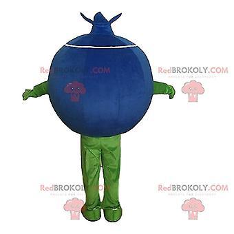 Maskottchen REDBROKOLY.COM Heidelbeere lustig und niedlich, Verkleidung der Frucht