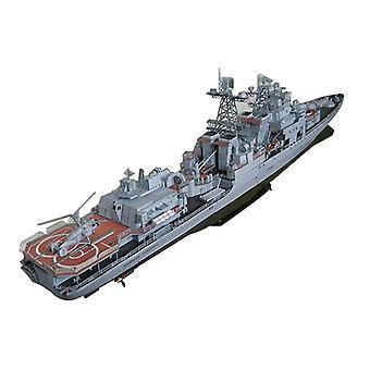 Modèle de carte en papier 3D de navire anti-sous-marin - Construction d'ensemble de construction
