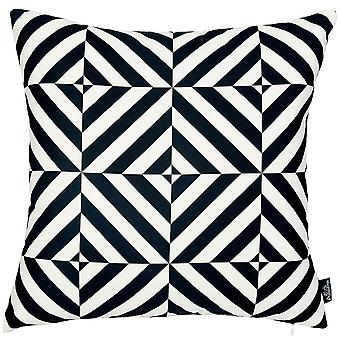 Line Pattern Throw Pillow Cover Square Shape