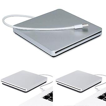 Apple Macbook Pro Air MAC PC מחשב נייד USB חריץ חיצוני תקליטור / DVD כונן צורב