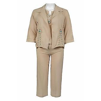 Bequeme passende Hose Set schön entworfen mit bestickten Muster