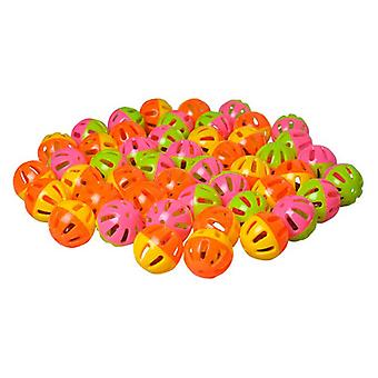 AE Cage Company Happy Beaks Small Round Rattle Ball Bird Toy  - 48 count