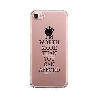 価値があることができる透明な携帯電話ケースかわいいクリア Phonecase